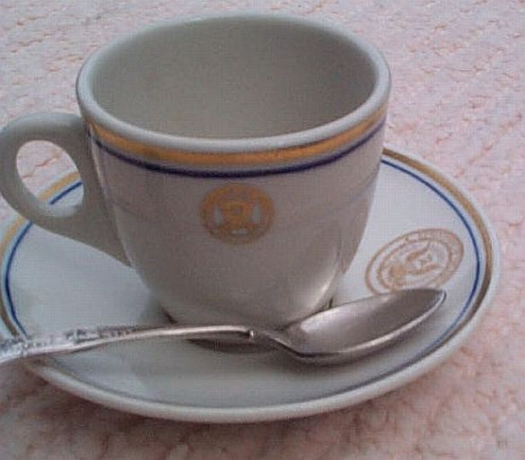 department of navy 3 piece demitasse coffee set