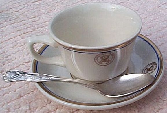department of navy 3 piece full size coffee set