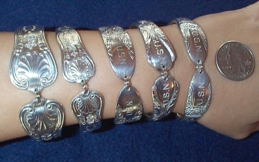 naval trenchart bracelets made from US Navy Dinnerware