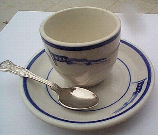 us navy captains 3pc demitasse coffee set