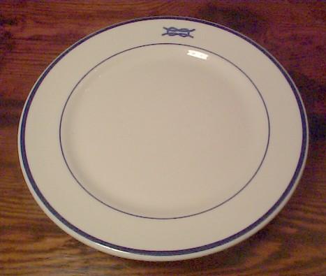 junior officer dinner plate w square knot