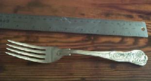 US Navy Wardroom Anchor Dinner Fork 8.25