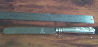 dinner knife round tip kings design wardroom officers w anchor