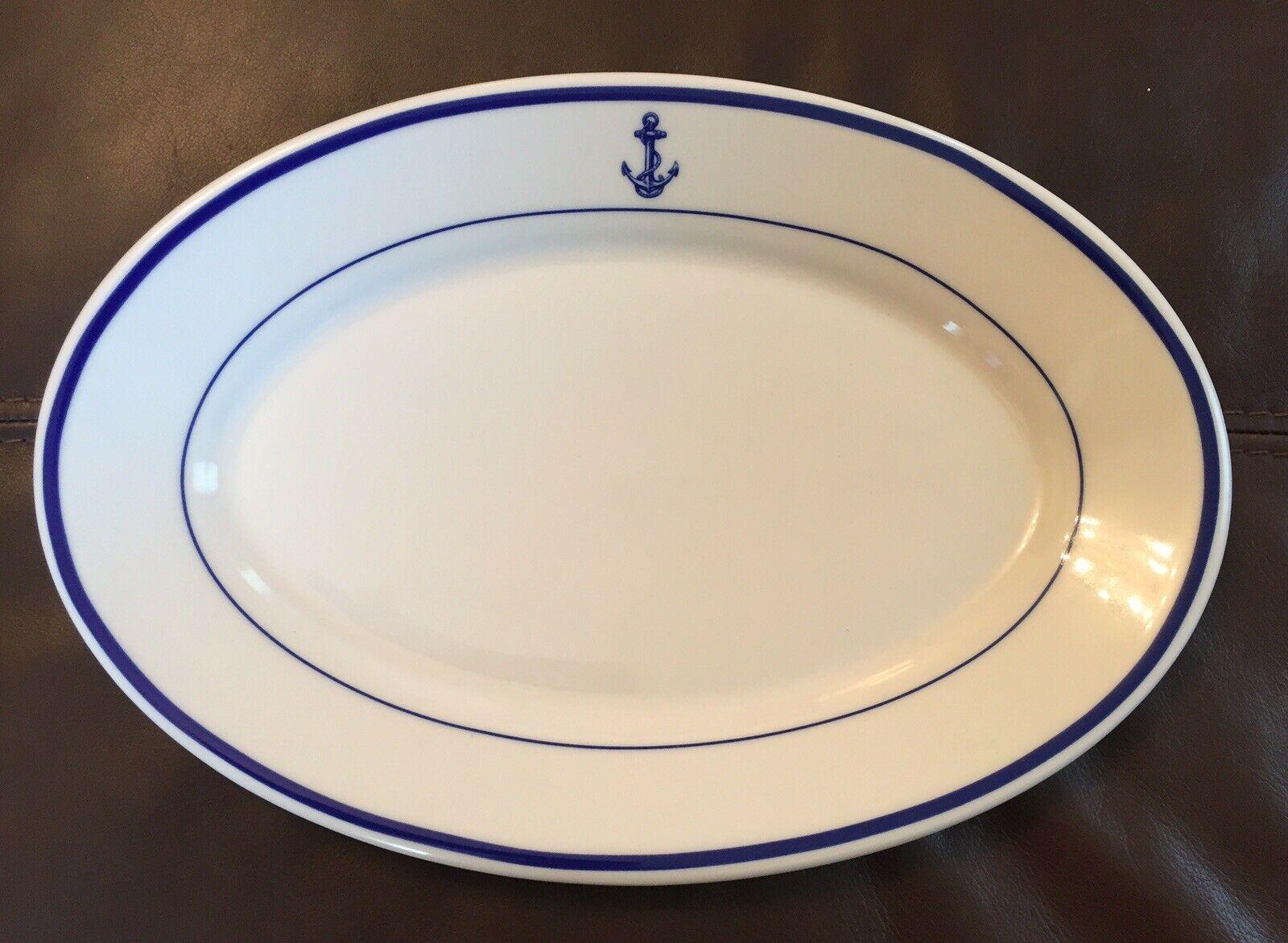 13x9 Platter US Navy Anchor Wardroom Officers Mess