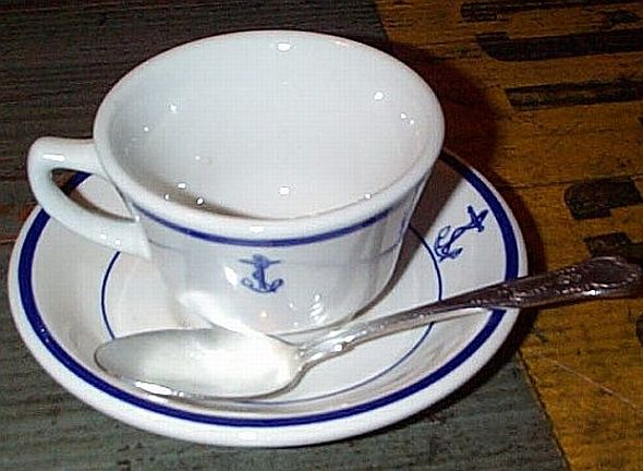3 piece Coffee Cup, Saucer, Spoon Set
