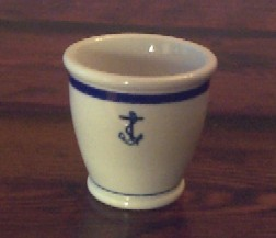 footed egg cup anchor wardroom officer