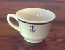 formal coffee cup anchor wardroom