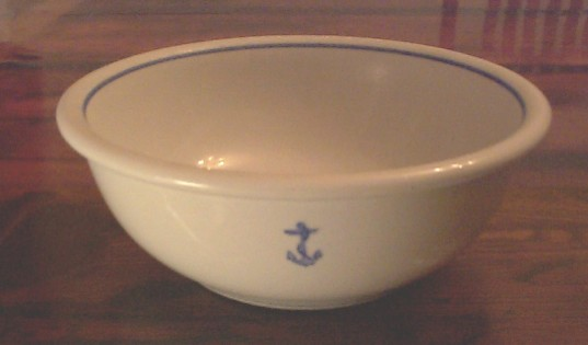 Serving Bowl Tepco US Navy Wardroom Anchor