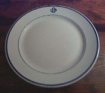 warrant officer mess dinner plate