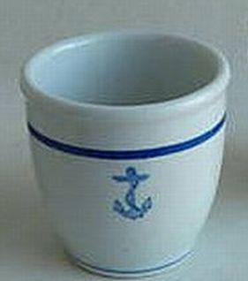 watchstanding mug or cup, anchor wardroom mess